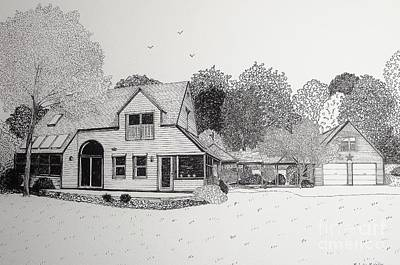 C And P's House  Print by Michelle Welles
