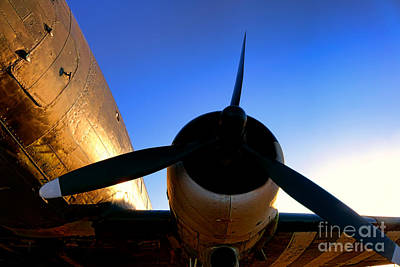C47 Sunset Print by Olivier Le Queinec