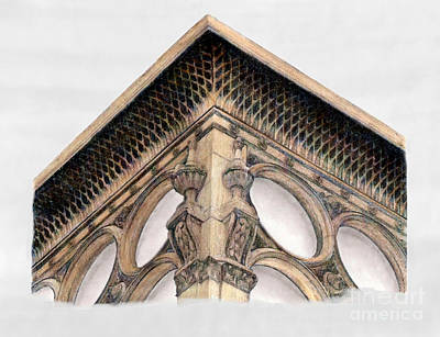 Cast Iron Drawing - Ca' D'oro Building Glasgow by Gerald Blaikie