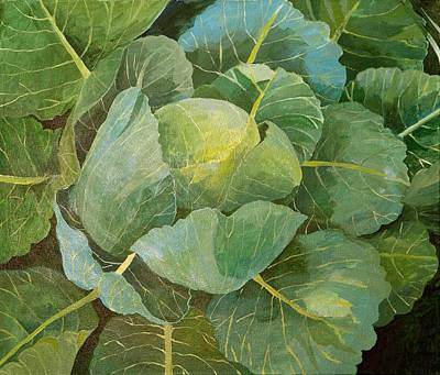 Cauliflower Painting - Cabbage by Jennifer Abbot
