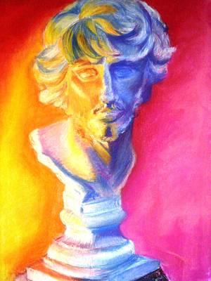 Statue Portrait Drawing - Cabeza Tecnicolor by Jenni Walford