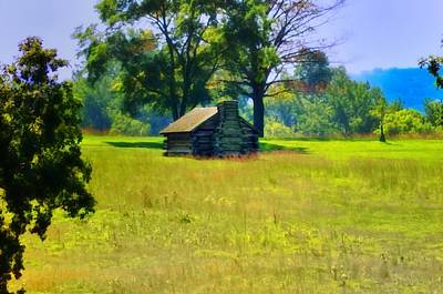 George Washington Digital Art - Cabin At Valley Forge by Bill Cannon