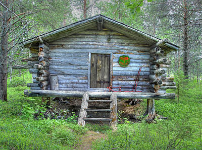 Old Cabins Photograph - Cabin In Lapland Forest by Merja Waters