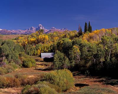 Cabin In Teton Valley Print by Leland D Howard