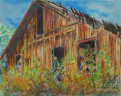 Cabin In The Mountains Print by Stephanie  Skeem