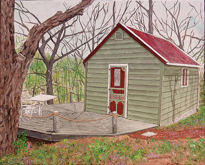 Cabin In The Woods Print by Kevin Callahan