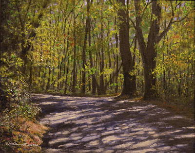 Great Smokey Mountains Painting - Cabin Road by Kathleen McDermott