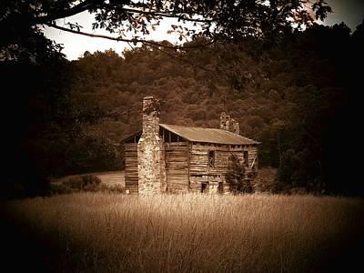 Log Cabin Photograph - Cabin Thru The Trees by Joyce Kimble Smith