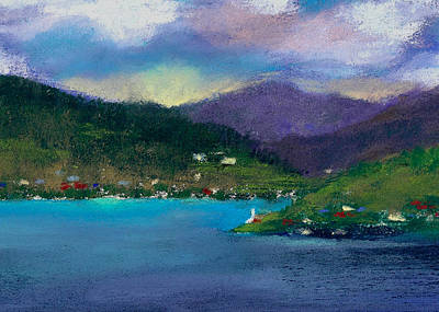 Seascapes Painting - Cabins On The Lake by David Patterson