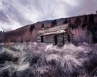 Cache Cabin Print by Leland D Howard