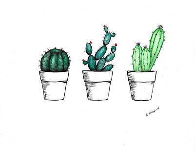 Cactus Print by Edwin Alverio