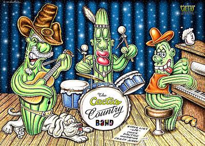 Cactus Jam Print by Cristophers Dream Artistry