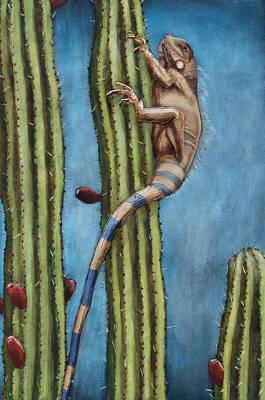 Cactus Pose Original by Patricia Pasbrig