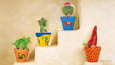 Cactus Pots Print by Anne Geddes