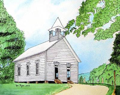 Pigeon Forge Painting - Cades Cove Church by Lynn Ingram