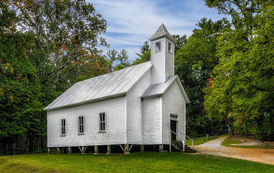 Cades Cove Missionary Baptist Church - 1 Print by Frank J Benz