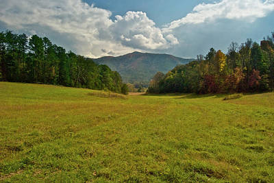 Cades Cove Pasture Print by Michael Peychich