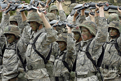 Camouflage Clothing Photograph - Cadets Prepare To Participate by Stocktrek Images