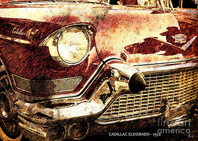 Man Cave Painting - Cadillac Eldorado 1950 by Pablo Franchi