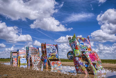 Cadillac Photograph - Cadillac Ranch Afternoon by Joan Carroll