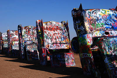 Amarillo Texas Photograph - Cadillac Ranch On Route 66 by Susanne Van Hulst