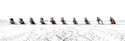 Cadillac Ranch Whiteout 001 Print by Lance Vaughn