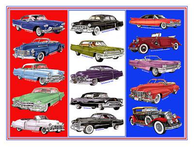 15 Cadillacs The Poster Print by Jack Pumphrey