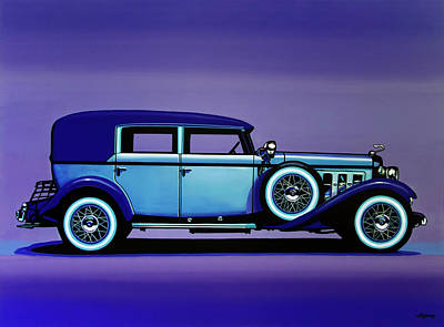 Antique Car Painting - Cadillac V16 1930 Painting by Paul Meijering