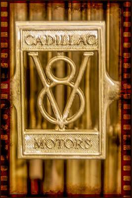 Vintage Photograph - Cadillac V8 by LeeAnn McLaneGoetz McLaneGoetzStudioLLCcom