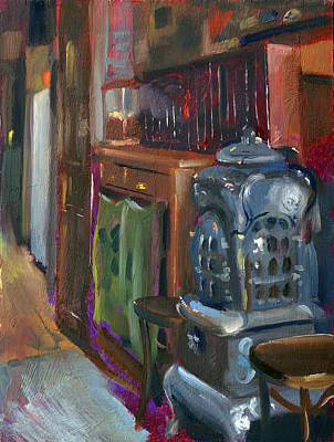 Beer Oil Painting - Cafe Bendl Vienna by Andrew Judd