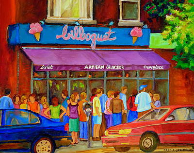 Streetscenes Painting - Cafe Bilboquet Ice Cream Delight by Carole Spandau