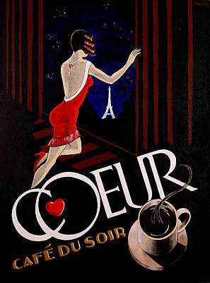 Heart Necklace Painting - Cafe Coeur 1 by Thom Reaves