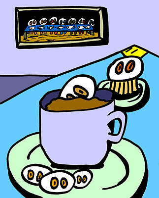 Cafe Cronkle Print by Jera Sky
