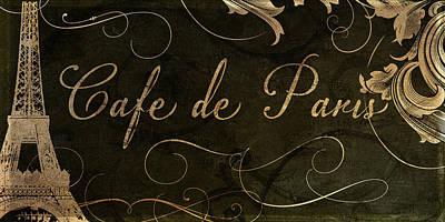 Paris Painting - Cafe De Paris  by Mindy Sommers