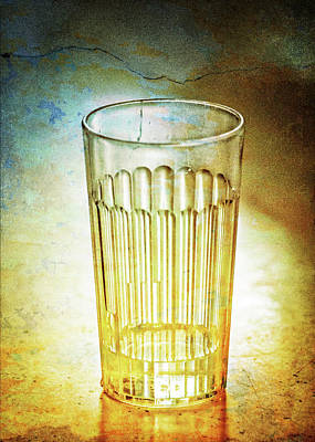 Cafe Glass Print by Brenda Bryant