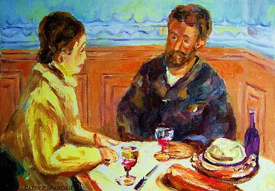 America First Party Painting - Cafe  Homage  De Pierre Auguste by Carole Spandau