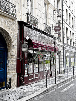 Cafe In Paris Print by J Pruett