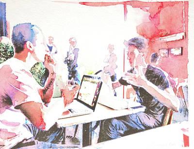 Digital Art - Cafe Intelligentsia 2 by Amy Bernays