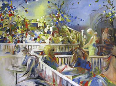 Cafe Roma, Berkeley, 1985 Original by Ethel Mann