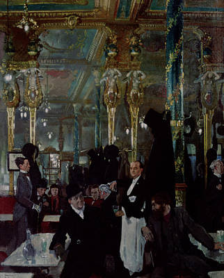 Absinthe Painting - Cafe Royal, London, 1912 by Sir William Orpen