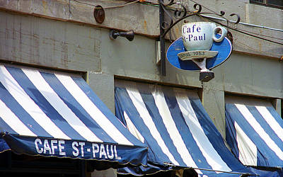 Montreal Landmarks Photograph - Cafe St. Paul - Montreal by Frank Romeo