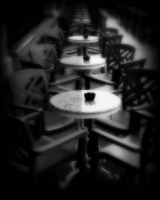 Table Wine Photograph - Cafe Tables by Perry Webster