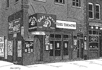 Greenwich Village Drawing - Cafe Wha? by Brian Keating
