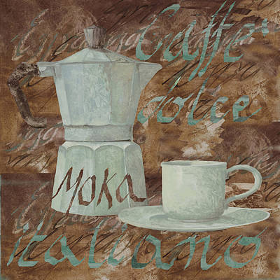 Coffee Painting - Caffe Espresso by Guido Borelli