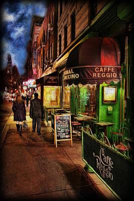 Coffeehouse Photograph - Caffe Reggio by Lee Dos Santos