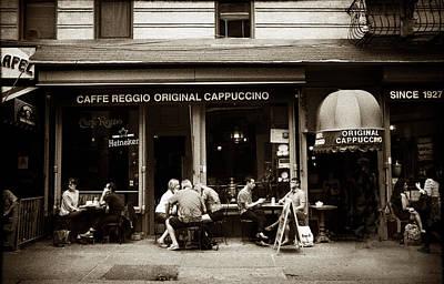 Hangout Digital Art - Caffe Reggio Nyc by Jessica Jenney