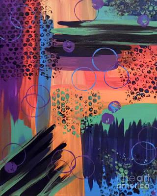 Abstract Handbag Painting - Caffeinated Color by Jilian Cramb - AMothersFineArt