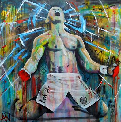 Ufc Painting - Cage Fighter by Angie Wright
