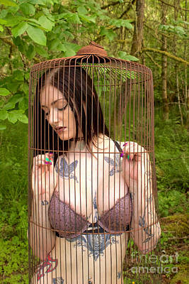 Photograph - Caged Beauty by Sean Griffin