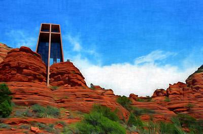 Digital Art - Chapel Of The Holy Cross - Sedona Arizona by Dan Stone